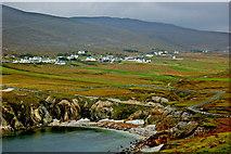 L6896 : Achill Island- Ashleam Bay & Village of Ashleam by Joseph Mischyshyn