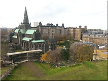 NS6065 : St Mungo's and Glasgow Royal Infirmary from the Necropolis by Clive Nicholson