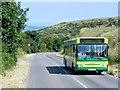 SZ4976 : Bus on Blackgang Road by David Dixon
