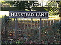 TM2899 : Hunstead Lane sign by Adrian Cable