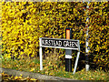 TM2996 : Kirstead Green sign by Adrian Cable