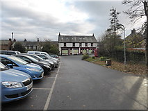 NY0603 : Gosforth car park and the Village Store by David Medcalf