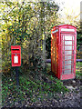 TM2693 : Church Road Postbox & Telephone Box by Adrian Cable