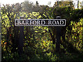 TM2691 : Barford Road sign by Adrian Cable