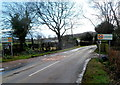SO4703 : Start of the 30mph zone in Llanishen, Monmouthshire by Jaggery