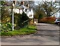 SO4702 : Old-style signpost, Llanishen Cross by Jaggery