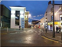 H4572 : Festive lights, Scarffe's Entry, Omagh by Kenneth  Allen