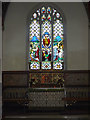 TM3292 : Stained Glass Window & Altar of St.Mary's Church by Adrian Cable