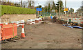 J3684 : Road construction, Jordanstown (7) by Albert Bridge