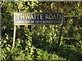 TM3392 : Thwaite Road sign by Adrian Cable