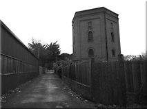 SU9777 : Victorian water tower near Romney Lock by Eirian Evans