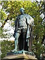 NY5361 : Statue of the 7th Earl of Carlisle on The Motte by Mike Quinn