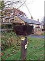 NZ1769 : 'Waggonways Walk' marker, Black Callerton by Andrew Curtis