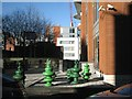 SP0687 : Holiday Inn Express patio, Lionel Street by Robin Stott