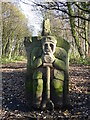 SE2904 : End of a stone bench - Transpennine Trail by Neil Theasby