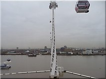 TQ3979 : Cable car pylon, Greenwich Peninsula by Christine Johnstone