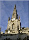 ST8558 : St James church spire by Neil Owen