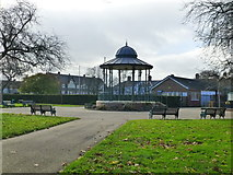 ST1774 : Bandstand, Grange Garden, Cardiff by Ruth Sharville