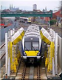 J3272 : Train, Adelaide maintenance depot Belfast by Rossographer