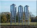 TF7216 : Three shiny silos in the Norfolk sunshine by Richard Humphrey