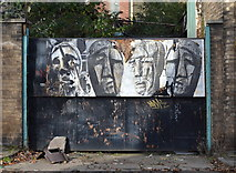 SK3487 : Gate 5 Faces, Record Ridgway Tools Site (Former), Shepherd Street, Shalesmoor, Sheffield by Terry Robinson
