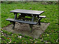 TM3877 : Picnic Table in Town Park by Adrian Cable