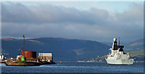 NS3075 : HMS Defender passing Great Harbour by Thomas Nugent