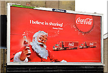 J3673 : Coca-Cola Christmas poster, Belfast (2013) by Albert Bridge