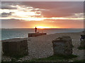 SZ6798 : Sunset, Eastney Beach by Robin Webster