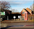SO6533 : Telephone exchange and red phonebox, Much Marcle by Jaggery