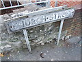 TQ7667 : Vintage street nameplate, Church Street, Chatham by Chris Whippet