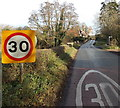 SO6823 : 30mph speed limit through Aston Ingham by Jaggery