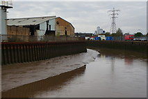 TA1031 : The River Hull from Bankside, Hull by Ian S
