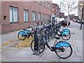 TQ2380 : Barclay Bike Docking Station on Freston Road by David Anstiss