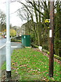 SE0125 : Tour-de-France waymark, Cragg Road, Mytholmroyd by Humphrey Bolton