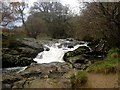 NY3921 : Short waterfall on Aira Beck by Graham Robson