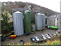 SC4384 : Silos at Glen Mills, Laxey by Richard Hoare