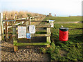 TG3830 : Path from car park to beach, Happisburgh by Evelyn Simak