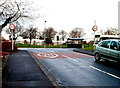 ST3091 : Start of a 20mph maximum speed zone near Malpas Park Primary School, Newport by Jaggery