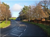 NS3977 : Road leading out of an industrial estate by Lairich Rig
