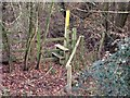 SK4523 : Stile and marker post by Ian Calderwood