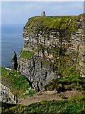 R0392 : Cliffs of Moher - O'Briens Tower - Vertical Orientation by Joseph Mischyshyn