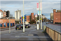 SK5803 : Aylestone Road and Welford Road in Leicester by Mat Fascione