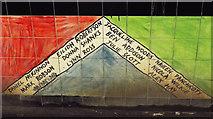 NS5567 : Wonderful Trains mural at Hyndland railway station by Thomas Nugent