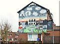 J3876 : Anti-drugs mural, Knocknagoney, Belfast by Albert Bridge