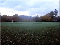 NY3704 : Football pitch in Rothay Park, Ambleside by Graham Robson