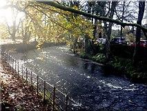 NY3704 : Looking downstream along the River Rothay by Graham Robson
