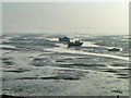 TQ9184 : Boats on the mud, Thorpe Bay by Robin Webster