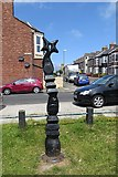 NZ3666 : Millennium Milepost, South Shields by Richard Webb