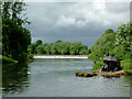 SO8269 : Anglers and weir near Lincomb, Worcestershire by Roger  Kidd